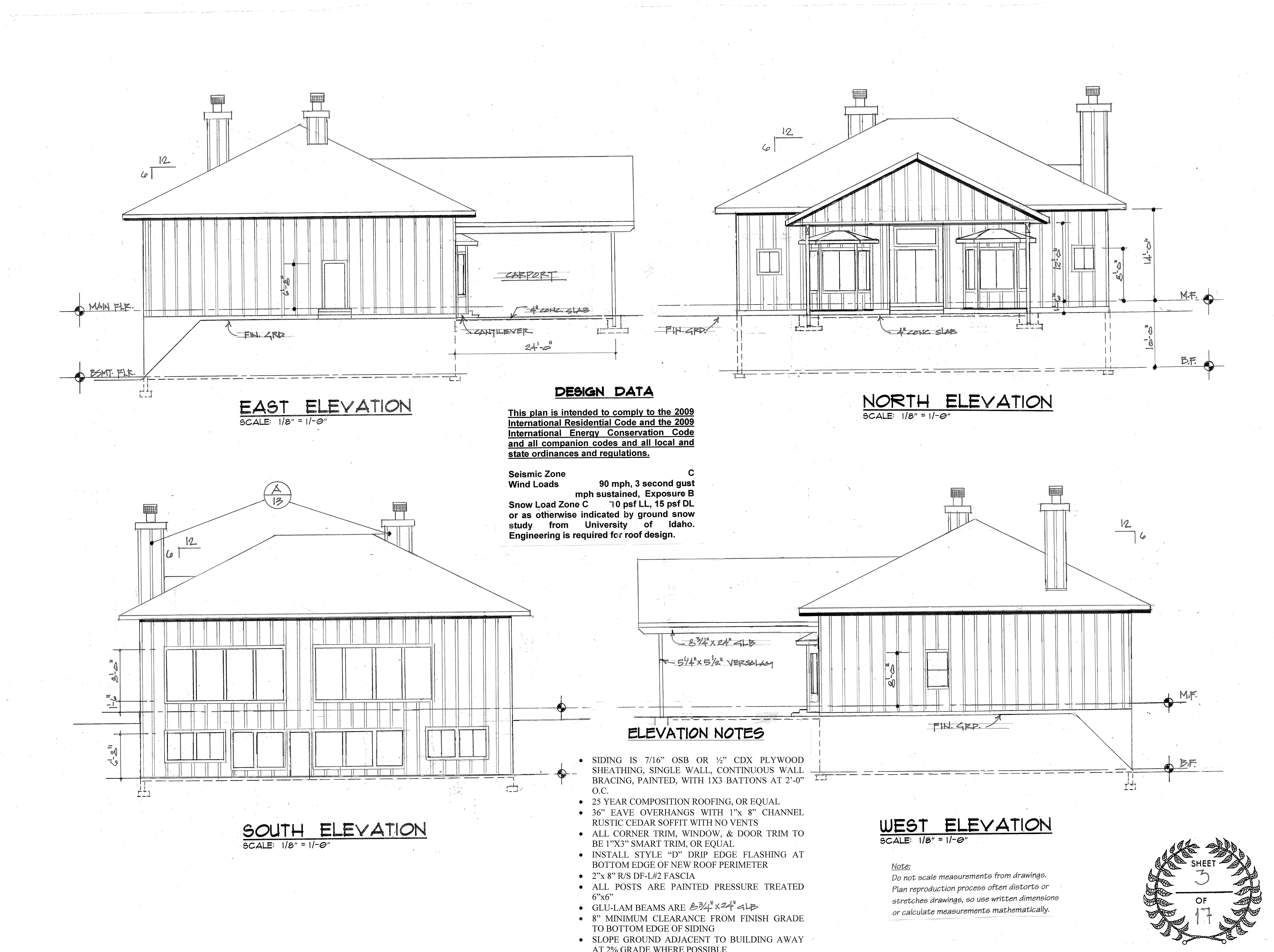 Elevation Plan Sample : Sample plans the plan shoppe