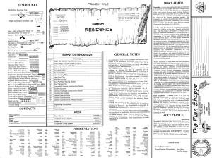 Sheet 1- Cover Sheet